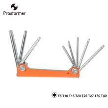 Prostormer 8 In 1 Wrench Set Folding Hex Key Wrench Set Professional Star Hex Keys screwdriver Wrench Orange Hex Fold-up Keys