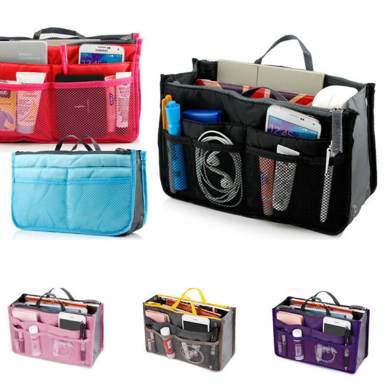 2019 Organiser Bag Travel Comestic Bag Box Solid Zipper Insert Handbag Organiser Purse Liner Organize Backpack New