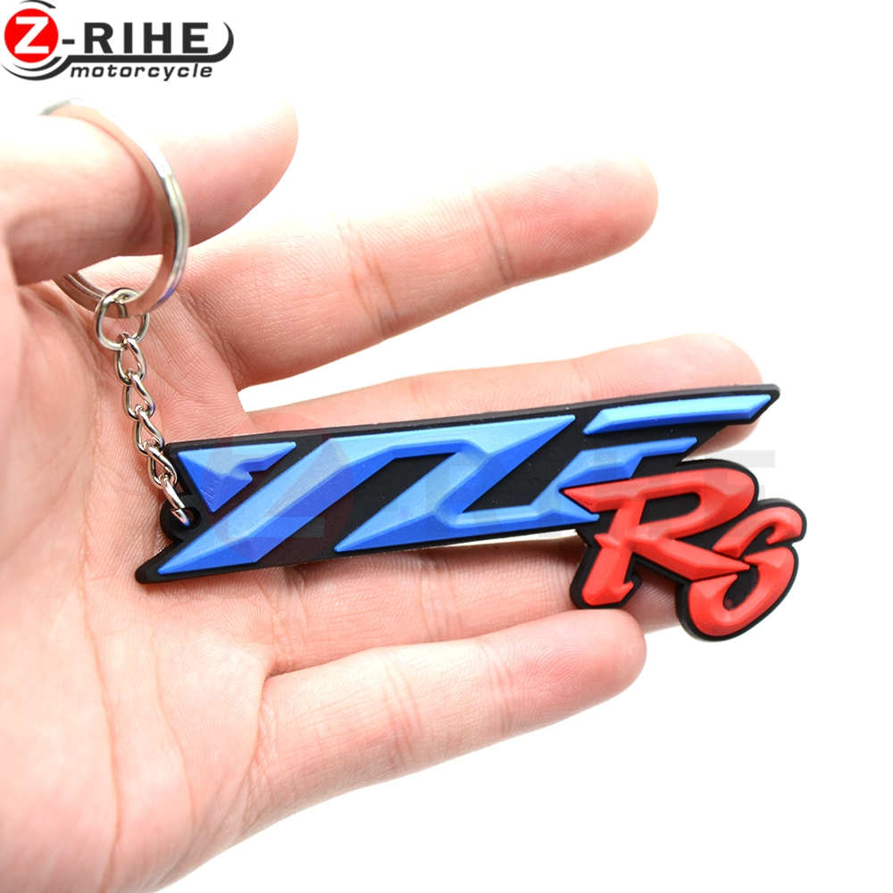 For YAMAHA YZF R6 R1 YZFR1 YZFR6 Motorcycle Accessories Soft Rubber Motorbike Parts Key Ring Moto Keychain High Quality image