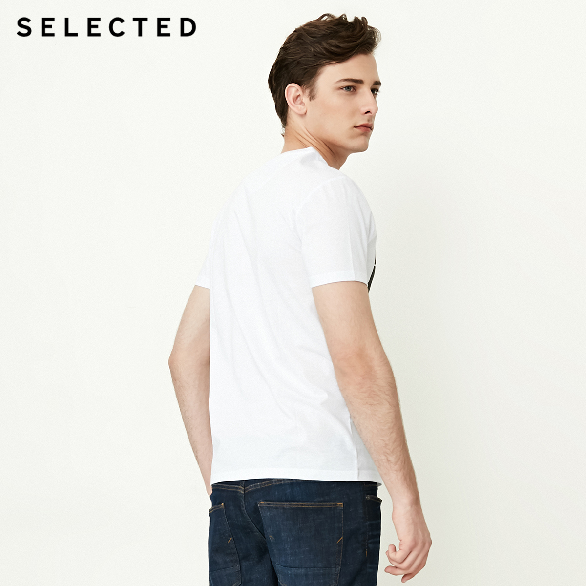SELECTED Spring amp Summer Men T Shirts O Neck Printed T shirt Men Tee Shirt 4182T4628 in T Shirts from Men 39 s Clothing