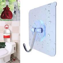 1 шт нержавеющей стали бесшовные супер присоски крюк сильный прозрачный присоска настенная вешалка крючки для кухни и ванной
