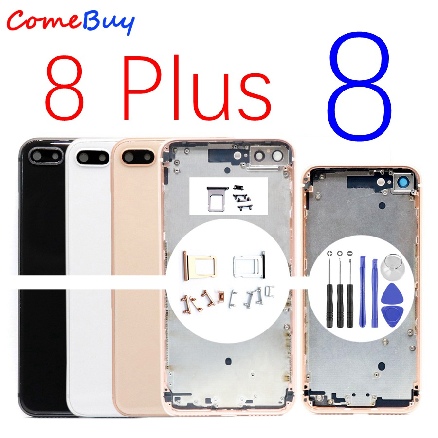 For iPhone 8 Plus Back Housing Battery Cover Rear Door Case Middle Chassis 8G 8P Replacement