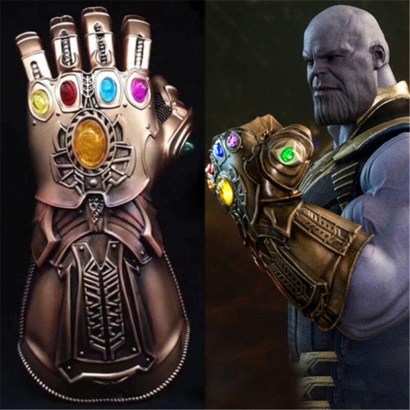 1:1 Infinity Guerra Thanos Infinity Gauntlet Guanti IN PVC Costume di Halloween Del Partito Prop
