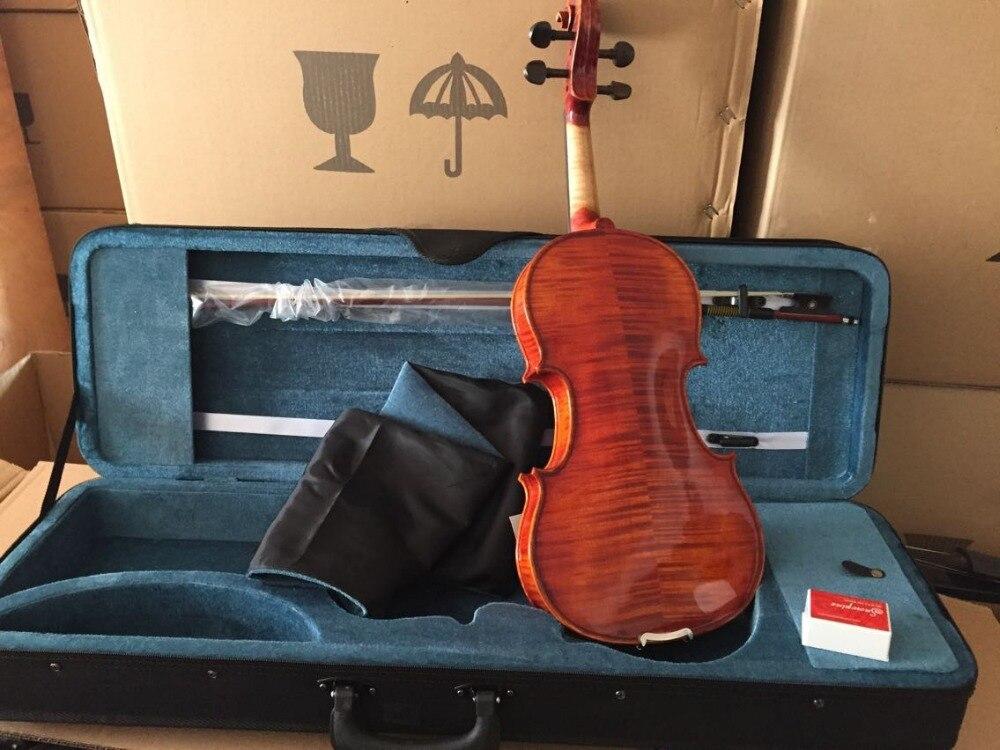 Spedizione Gratuita FULL SIZE 4/4 violino Professionale con Pernambruco arco e Oblungo a forma di caso, colofonia