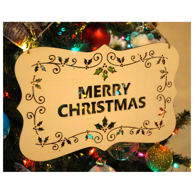 Christmas Alphabet.Us 2 73 8 Off Alim Hot Wooden Merry Christmas Alphabet Listed Greetings Christmas Tree Decorations In Pendant Drop Ornaments From Home Garden On