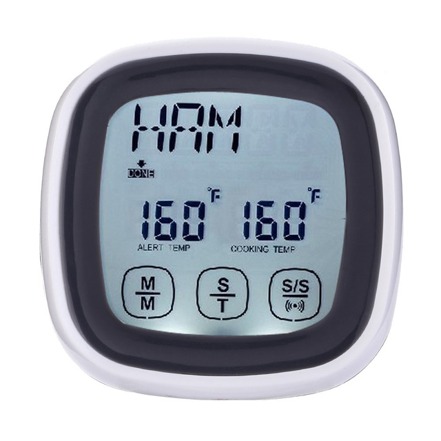lcd touchscreen barbecue timer food cooking thermometer digital probe meat thermometer bbq temperature gauge kitchen tool