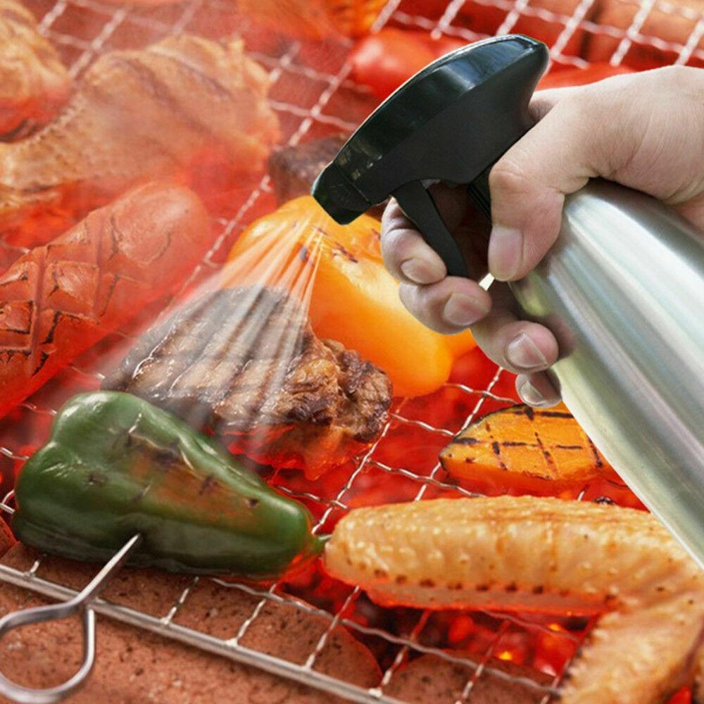 New 304 Stainless Steel Food Grade Spray Can Oil Bottle Barbecue Supplies