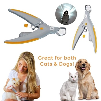 Professionals Pet Dog Cat Nail Clippers Trimmer With Led Light Grooming Electric Grinders Scissors Toe Claw Nail Pet Products dog nail clippers electric pet nail scissors grinder for dog cat claw grooming trimmer cutters beauty nail mill pet supplies n10