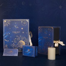 Starry night starry creative book three dimensional gift box INS blossoms wedding souvenir formal dress Large