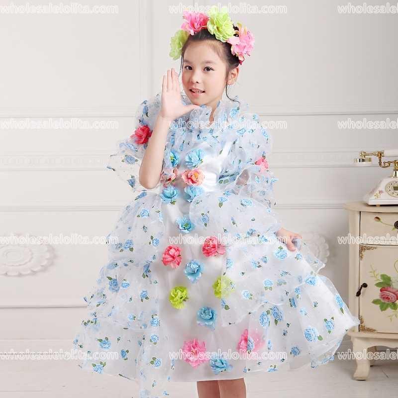 CHAUDE!! mondial Livraison Gratuite Gothique Cosplay Stade robe de Bal Filles De Bal Vintage Lolita Robe Petite Fille Robe Customment