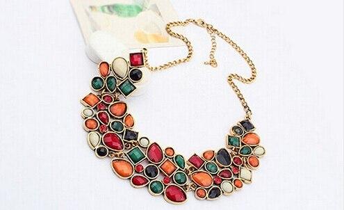 Bohême ethnique collier et pendentif Multi couche perles bijoux Vintage déclaration sautoir femmes à la main acrylique bijoux 1