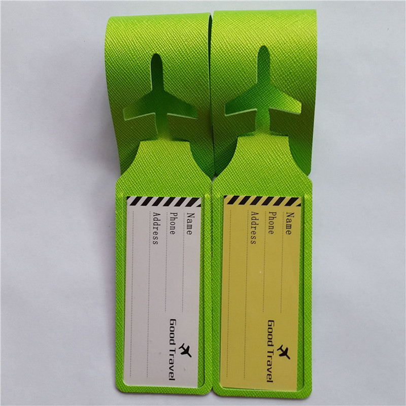 2PCS/lot Travel Accessories Luggage Tag Suitcase ID Address Holder Baggage Boarding Tags Portable Label Outdoor Sports Bag Tags