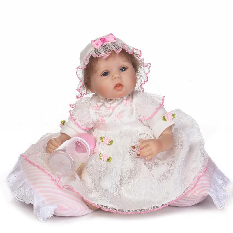 Nouveau 42 silicone poupées reborn bebe cadeau jouets Coton Corps Réaliste reborn Bébés Jouets brinquedo menina