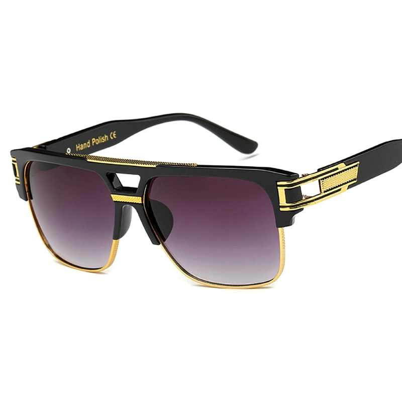 Klasyczne luksusowe mężczyźni okulary przeciwsłoneczne moda seksowny włos marki okulary przeciwsłoneczne dla kobiet lustrzane Retro w stylu Vintage plac projektant odcienie