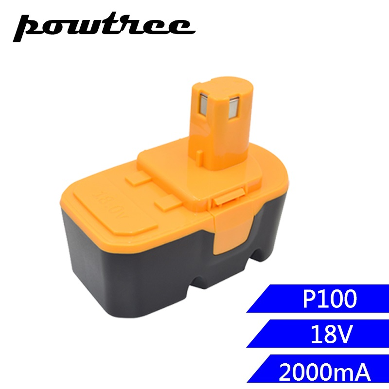 18V 2000mAh Ni-CD P100 Rechargeable Battery For Ryobi P100 P102 P103 P104 P105 P107 P108 ABP1801 BPP1820 BPP-1815 BPP-1817 18v 5000mah li ion battery for ryobi p108 p107 p106 p105 p104 p103 p102 power tool battery high quality