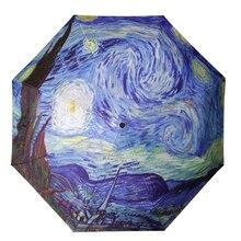 Yuding полностью автоматический зонт Двойной Слои Handfree зонтик дождь Paraguas Для мужчин зонтик солнечный ветрозащитный Parapluie