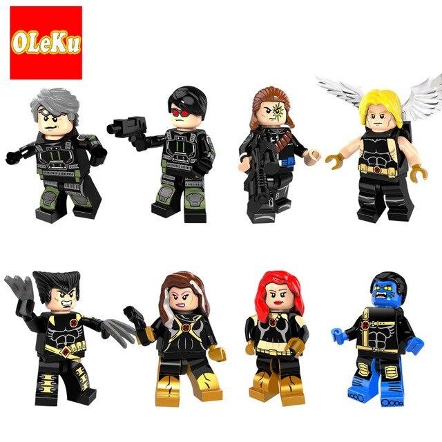 Super-heróis Da Marvel X-men Tempestade Professor X X-homem Super-heróis Wolverine deadpool Bestial em Apocalipse Building Blocks Brinquedos Figuras