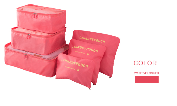 6-Piece Luggage Packing Cube and Bag Set