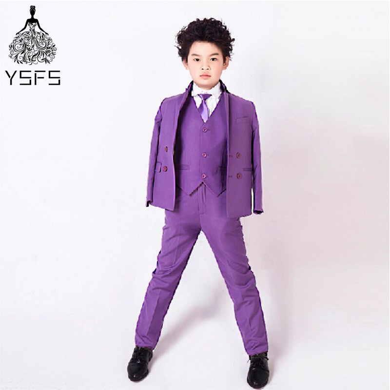 Hot Boy Trajes Casuales Blazers Chaqueta de La Boda Trajes Para Niño ...