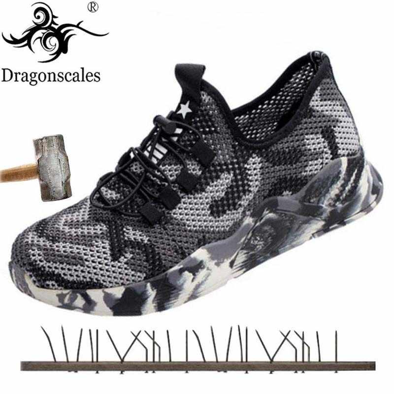 Erkek Yaz Yüksek Kaliteli Iş Güvenliği Ayakkabı Anti-piercing Moda Trendi Vahşi Iç Çelik Kafa Rahat Işık Örgü nefes