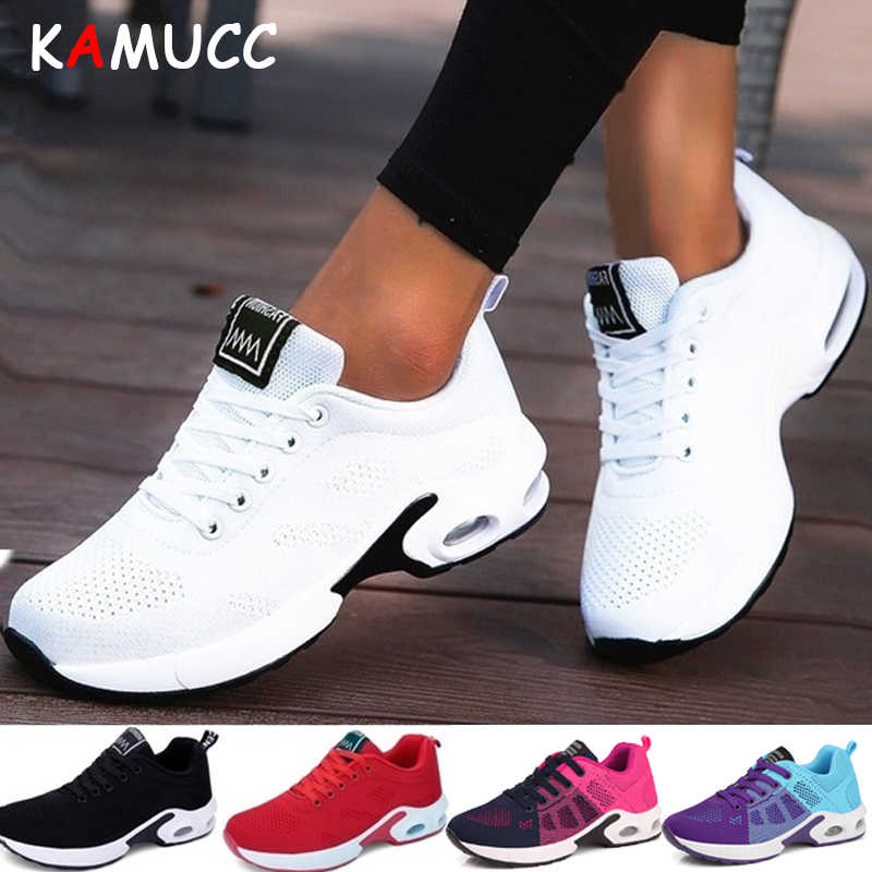 e463c6429fcf5 KAMUCC New Platform Sneakers Shoes Breathable Casual Shoes Woman Fashion  Height Increasing Ladies Shoes Plus Size 35-42