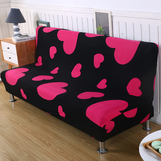 Universal Printing Armless Sofa Bed Cover Folding Seat Slipcover Modern Stretch Covers Couch Protector Elastic Futon