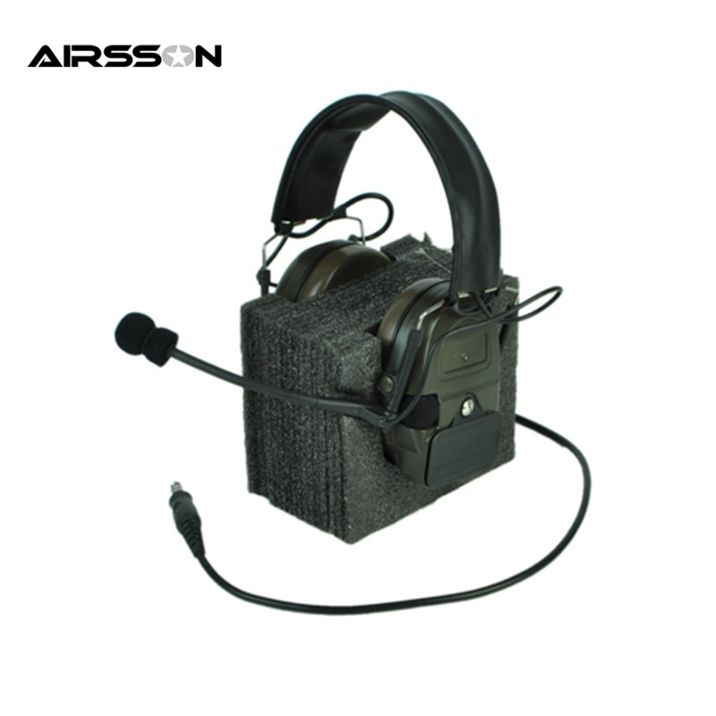 Airsoft Element Z-Tactical Headset Noise Reduction Headset Without PTT Adapter Tactical Combat Portable Headphone Outdoor Tool