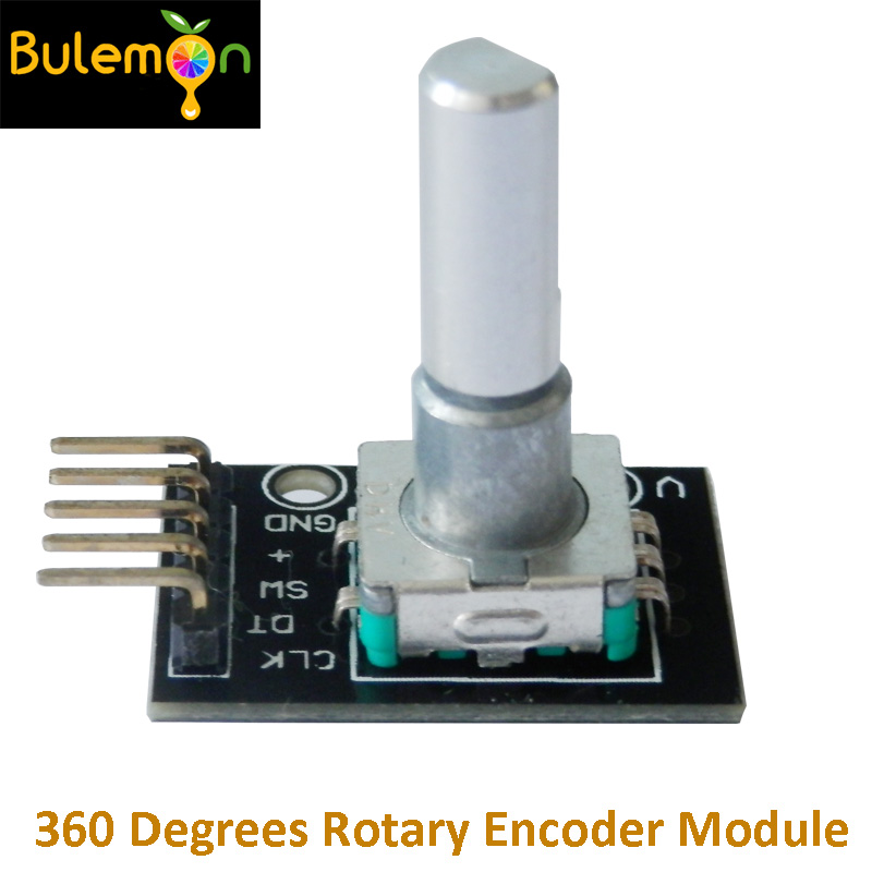 2pcs/lot 360 Degrees Rotary Encoder Module With Pins For Arduino Brick Sensor Switch Development Board
