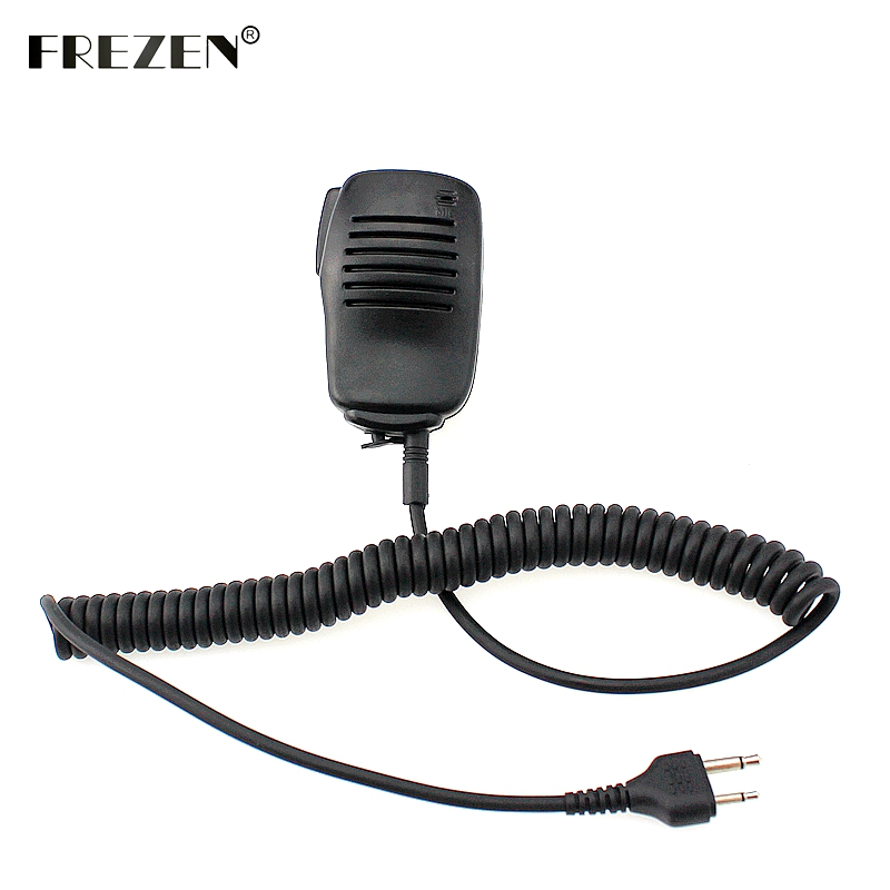 Portable Mini Speaker Mic Microphone PTT For Icom Two Way Radio IC-F3 SL25 V80 For Cobra Walkie Talkie HH37ST FRS90