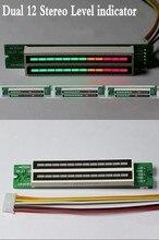 المزدوج 12 بت LED مستوى العرض قابل للتعديل الصوت الموسيقى VU مستوى المؤشر متر لمكبر للصوت مع وضع AGC