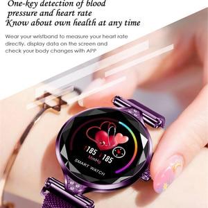 Image 3 - Greentiger ליידי אופנה H1 חכם שעון נשים Bluetooth Waterproof קצב לב צג גשש כושר Smartwatch צמיד