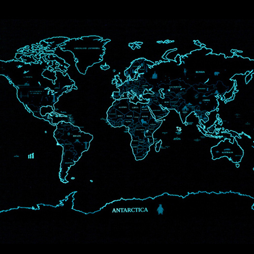 Glow in the dark fluorescence world map scratch off map travel map glow in the dark fluorescence world map scratch off map travel map poster gift free shipping gumiabroncs Gallery