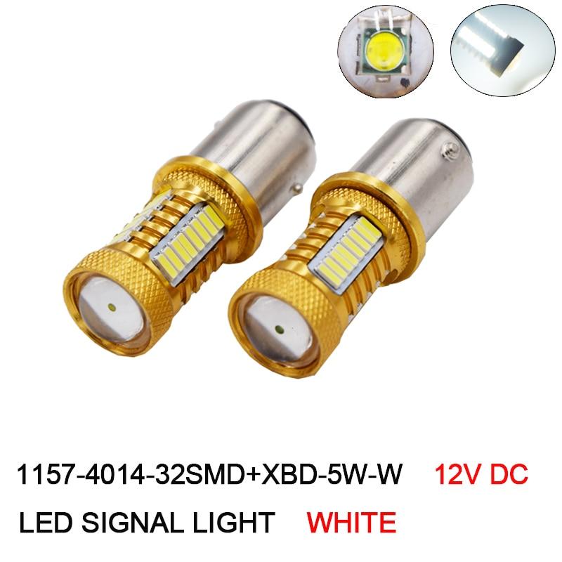2 шт. 1157 BAY15D светодиодных ламп автомобиля 32 SMD Samsung чип 4014 XBD чипы высокое Мощность лампа P21/5 вт Задние огни Источник Парковка Белый 12 В ...