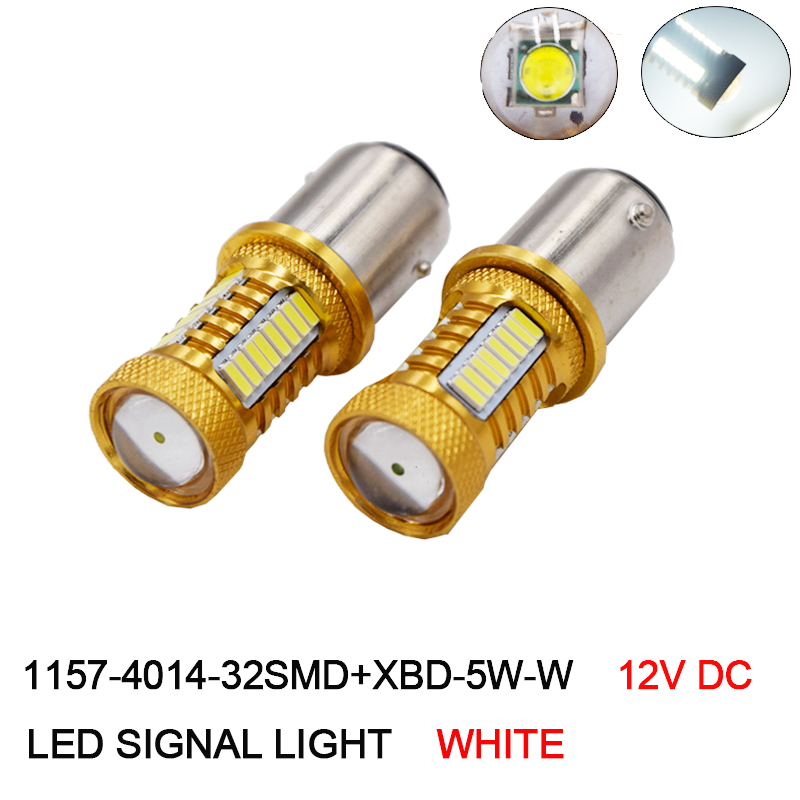 2Pcs 1157 BAY15D Led Car Bulbs 32 SMD Samsung Chip 4014 XBD Chips High Power lamp P21/5W Rear Lights Source Parking White 12V