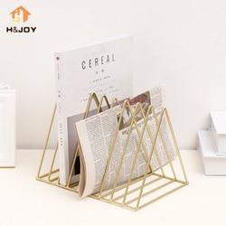 Newspaper Holder Book Stand Classic Tri-angle Shape Home Magazine Organizer Office Stationery Organizer Newspaper Storage Rack