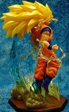 18cm Dragon Ball Z Goku Action Figure Super Saiyan 3 PVC
