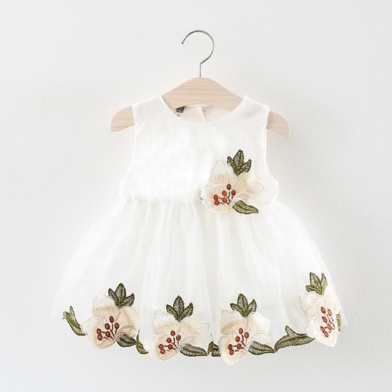 Одежда Новинка Лето 2018 девушки сладкий платье принцессы для маленьких детей деревню, чтобы liu вышивка платье без рукавов лидер партии