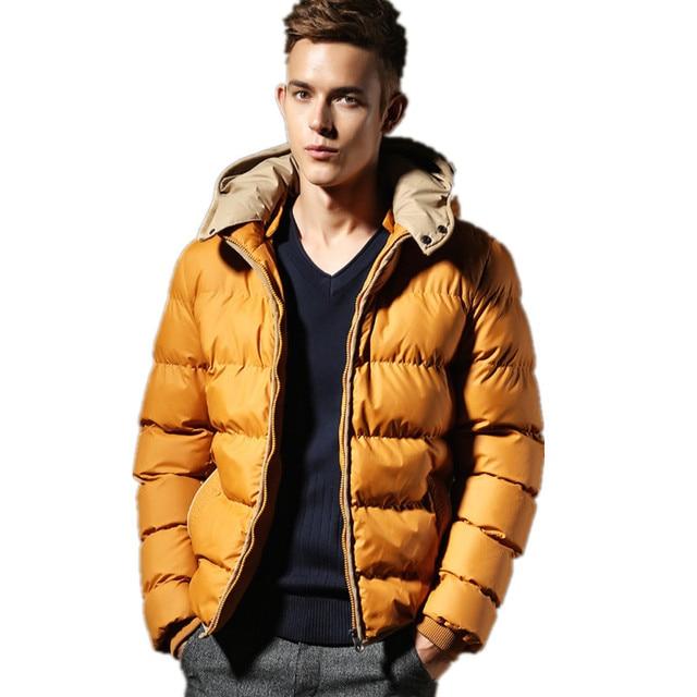 Hombres Parka de Invierno con capucha 2016 de la Nueva Llegada winbreaker hombre Chaquetas Espesar hombre outwear tamaño Grande M-XXXL Casual Abrigo