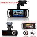 "Lente Dual DashCam A1 Coche DVR Cámara Full HD 1080 P 2.7 ""LCD Grabador de Vídeo Dash Cam g-sensor de la Cámara Trasera Soporte GPS Logger"
