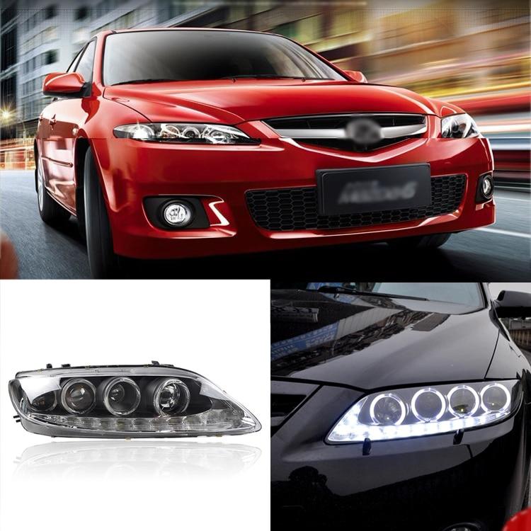 Ownsun прохладный двойной лезвие ксенон светодиодные ДХО Multi-Ангел глаз фары для Mazda 6 2004-2012