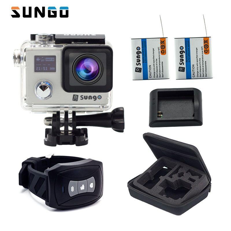SUNGO D'action Caméra 4 K à distance WiFi Full HD 1080 P 4 K 24fps écran 2.0 LCD 170 objectif grand Mini Casque sport Caméscope caméra