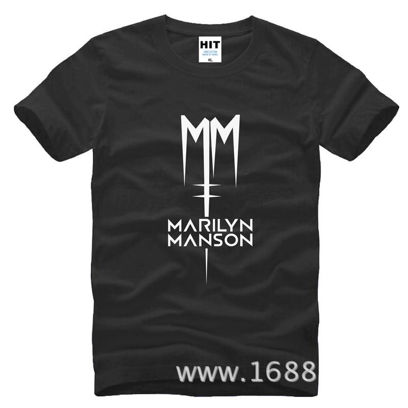 Classic Marilyn Manson Rock T-shirt Heren Heren T-shirt 2016 Korte - Herenkleding - Foto 1