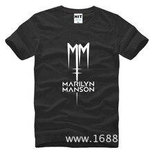 Classic Marilyn Manson Rock T Shirt Mens Men Tshirt 2016 Short Sleeve Cotton Casual T-shirt Tee Camisetas Hombre