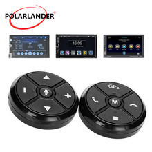 Universal Car Steering Wheel Control Key Radio Remote Control GPS Navigation Buttons Black Music Wireless DVD For Stereo Player