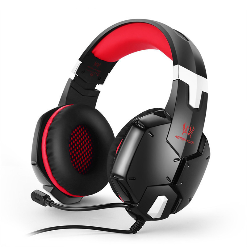 KOTION EACH G1200 Gaming Headsets 3.5mm Gamer Headphone Earphone with Mic Stereo Bass for PS4 PC Computer Laptop Mobile Phones each g8200 gaming headphone 7 1 surround usb vibration game headset headband earphone with mic led light for fone pc gamer ps4