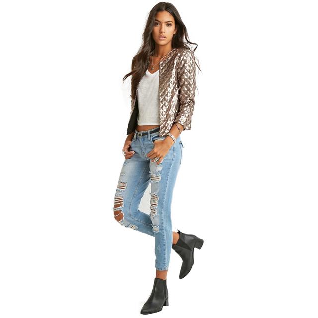 Women's Diamond Pattern Sequin Jacket