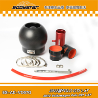 EDDYSTAR Bomb High Flow Carbon fiber air intake Filter SYSTEM with Silicone & Clamps for Volkswagen Polo GTI 1.4T