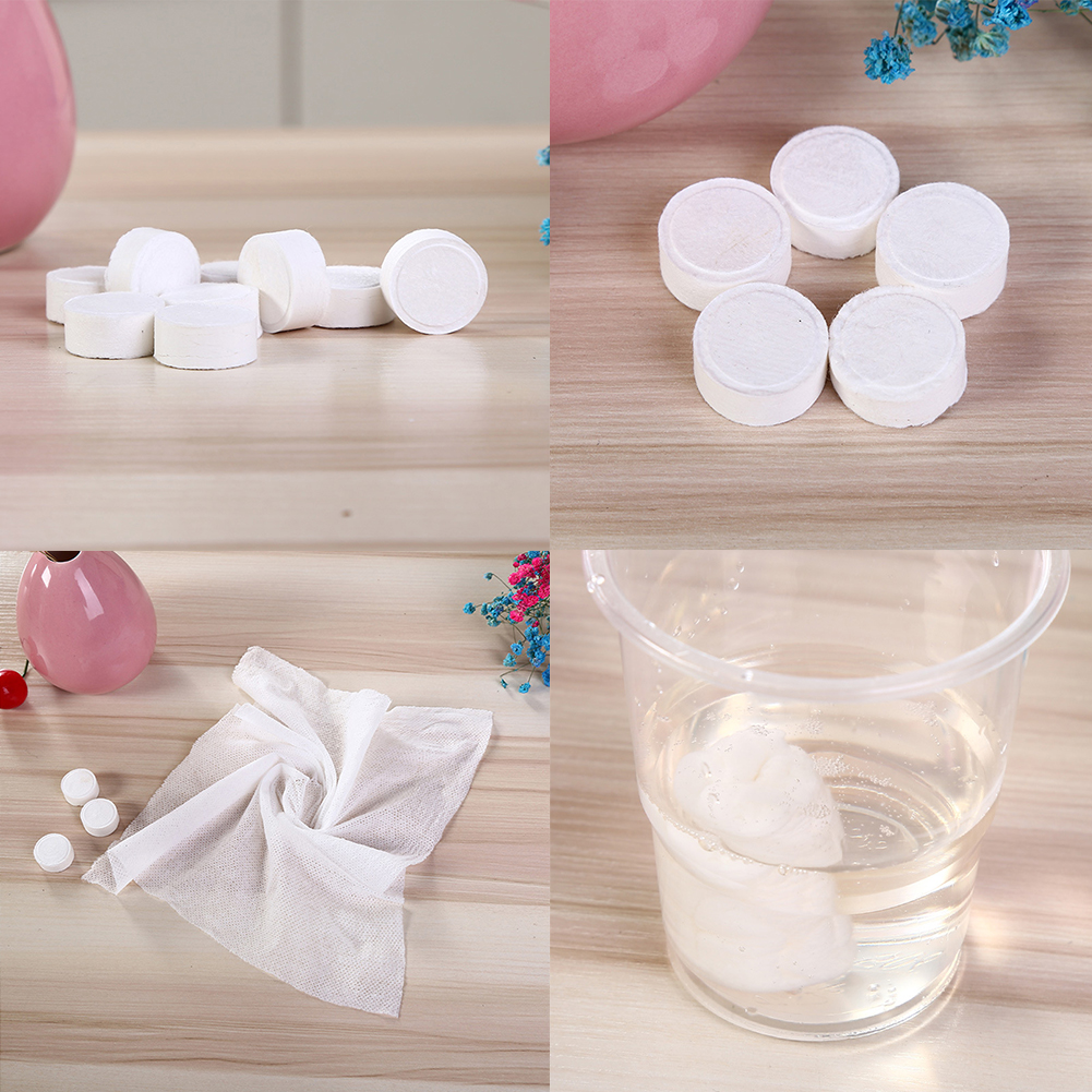 500pcs Compressed Dried Wet Tissue Hand Towel Water Portable Magic Coin MJ