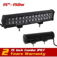 15 inch 150 w Lens Led Bar Licht Spot Combo 12 v 24 v Tractor ATV Offroad Mistlamp LED Worklight Externe Licht VS 1200 W/126 W/240 W