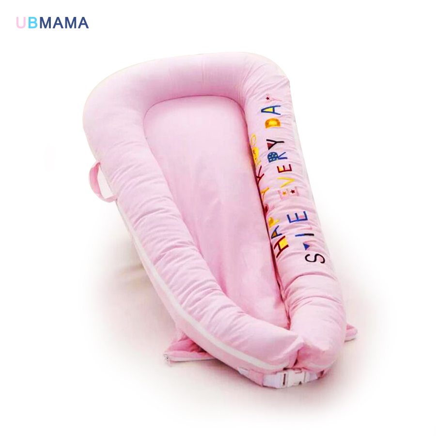 Portable Solid Baby appease bed newborn travel foldable game bed bumper baby bionic bed washable breathable for baby